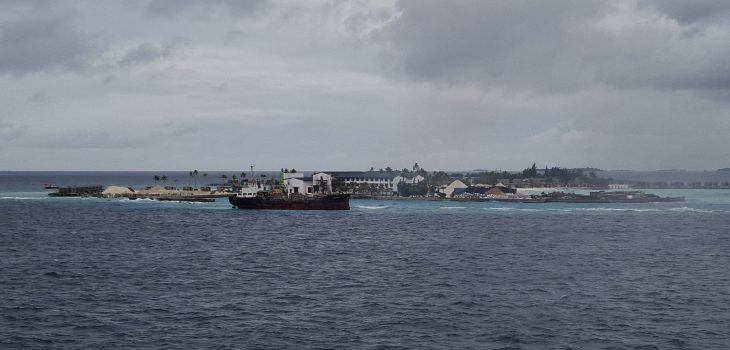 vessel aground near funadhoo