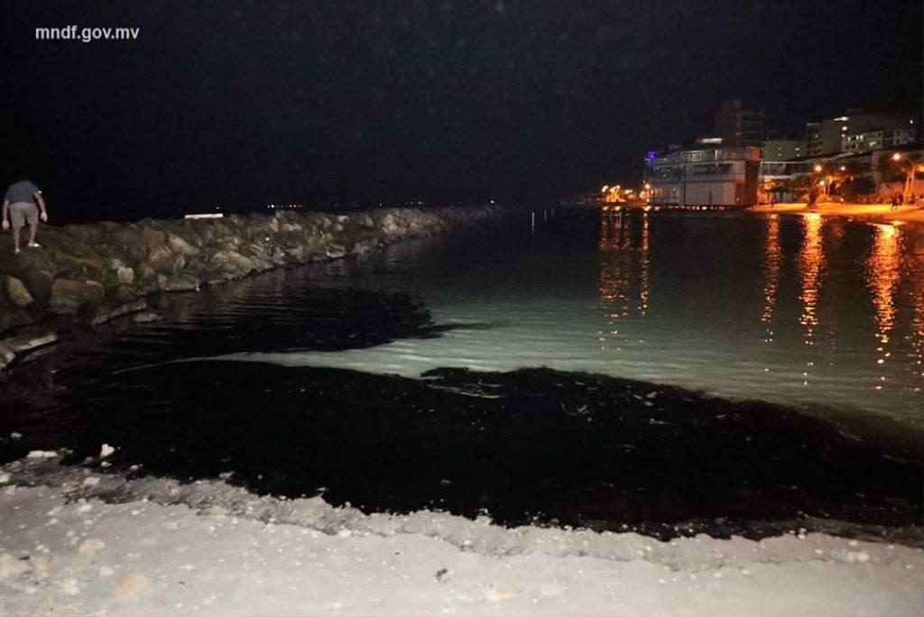 Accumulation of Oil spill at rasfannu beach